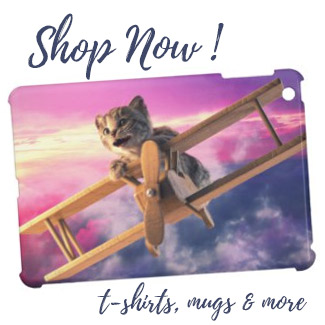Little Kitten Flies - iPad Case
